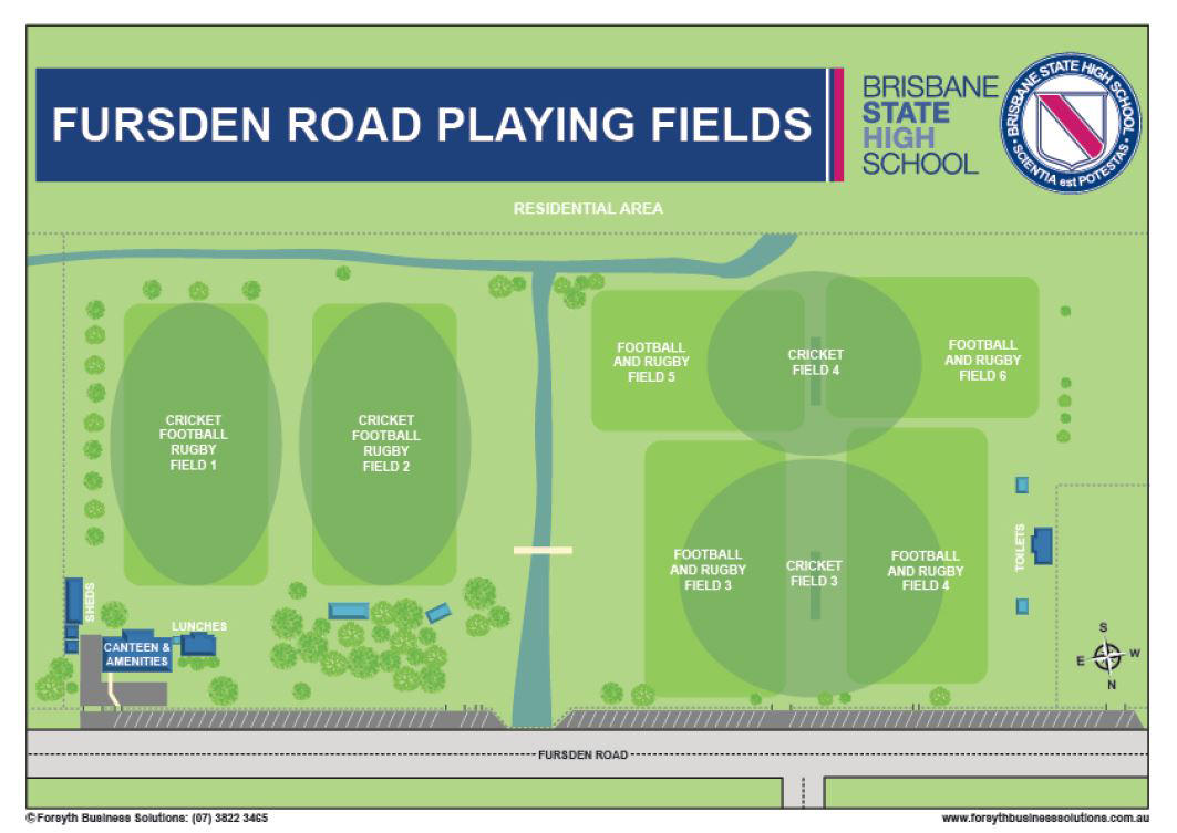 Fursden Road Playing Fields Map
